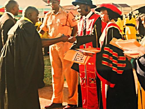 Jonathan Mugerwa Graduating , in Luzira Prison Uganda Africa, 2015