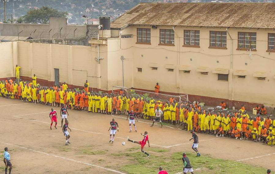 Football in Luzira Maximum Prison Uganda
