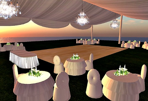 Marquee Tent on Evening Display