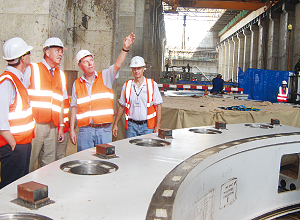 German Team Inspects Equipment at Bujagali Uganda