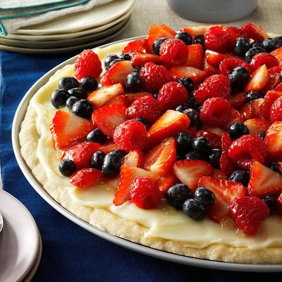 Fruit and Vanilla Cream Pie