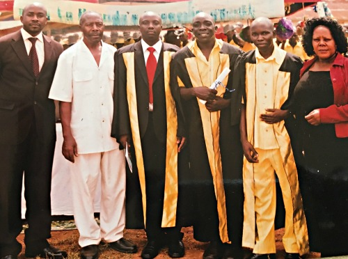 Jonathan graduating while at Luzira Prison Uganda