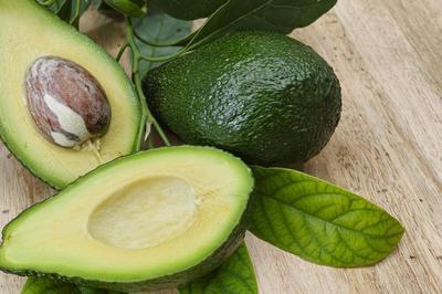 AVOCADO Fruit Cut into Two