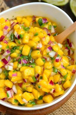 Jalapeno Mango Salsa with Vanilla and Lime