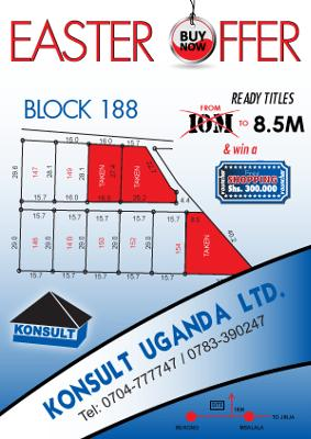 Mukono Plots for Sale - Uganda Real Estates Easter Offer
