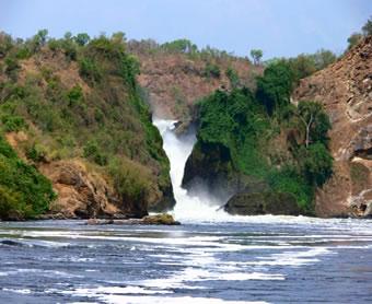 The Murchison Falls in Northwestern Uganda