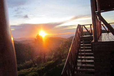 Sun Set at the Gorilla Lodge Uganda