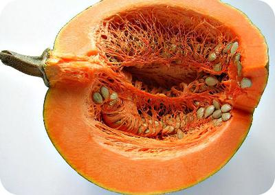 Sliced Pumpkin with Seeds well Exposed