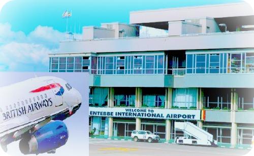 Flight to Uganda Entebbe Airport
