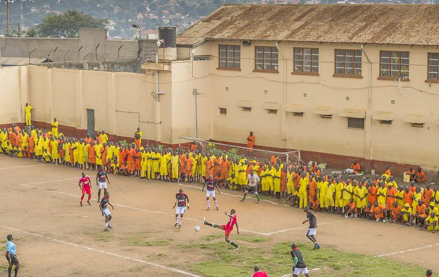 Football in Luzira Maximum Prison Uganda