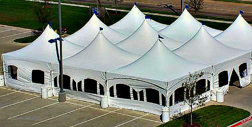 Marquee Tent in Use