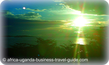 Sunset & Moonrise at Entebbe Resort Beach