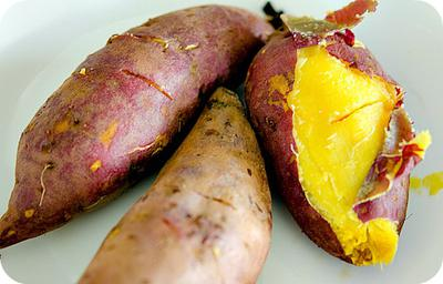 Cooked Sweet Potato on Plate